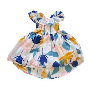 TEA Ruffle Hi-lo Dress